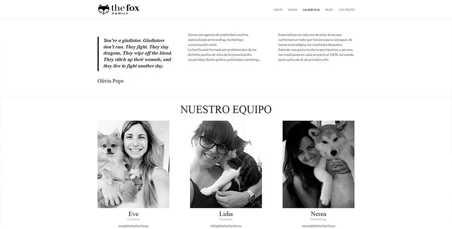 "The Fox Family - captura de ""la agencia"""